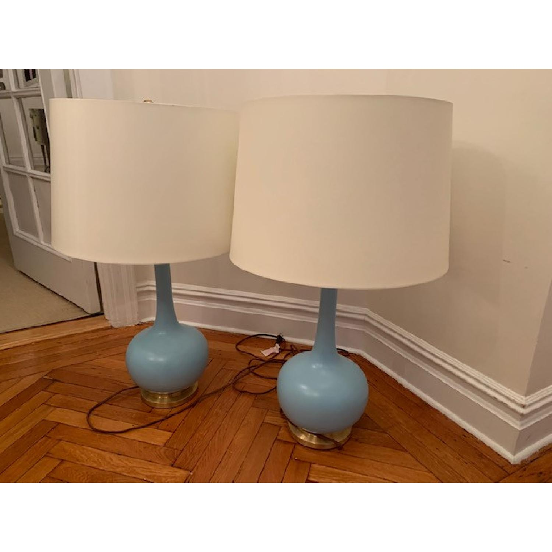 Christopher Spitzmiller Coy Sky Blue Large Table Lamps