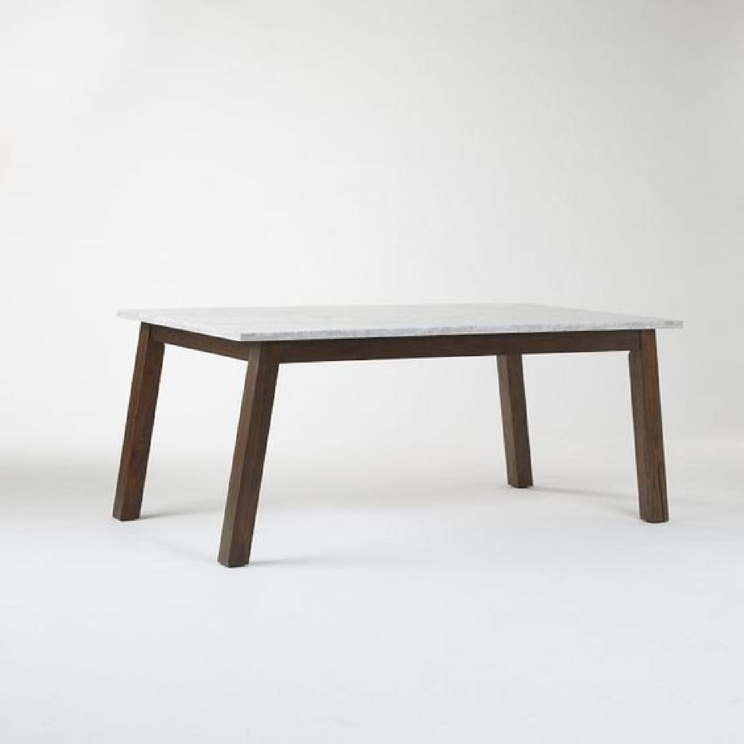 West Elm Marble & Wood Rectangular Dining Table - image-6