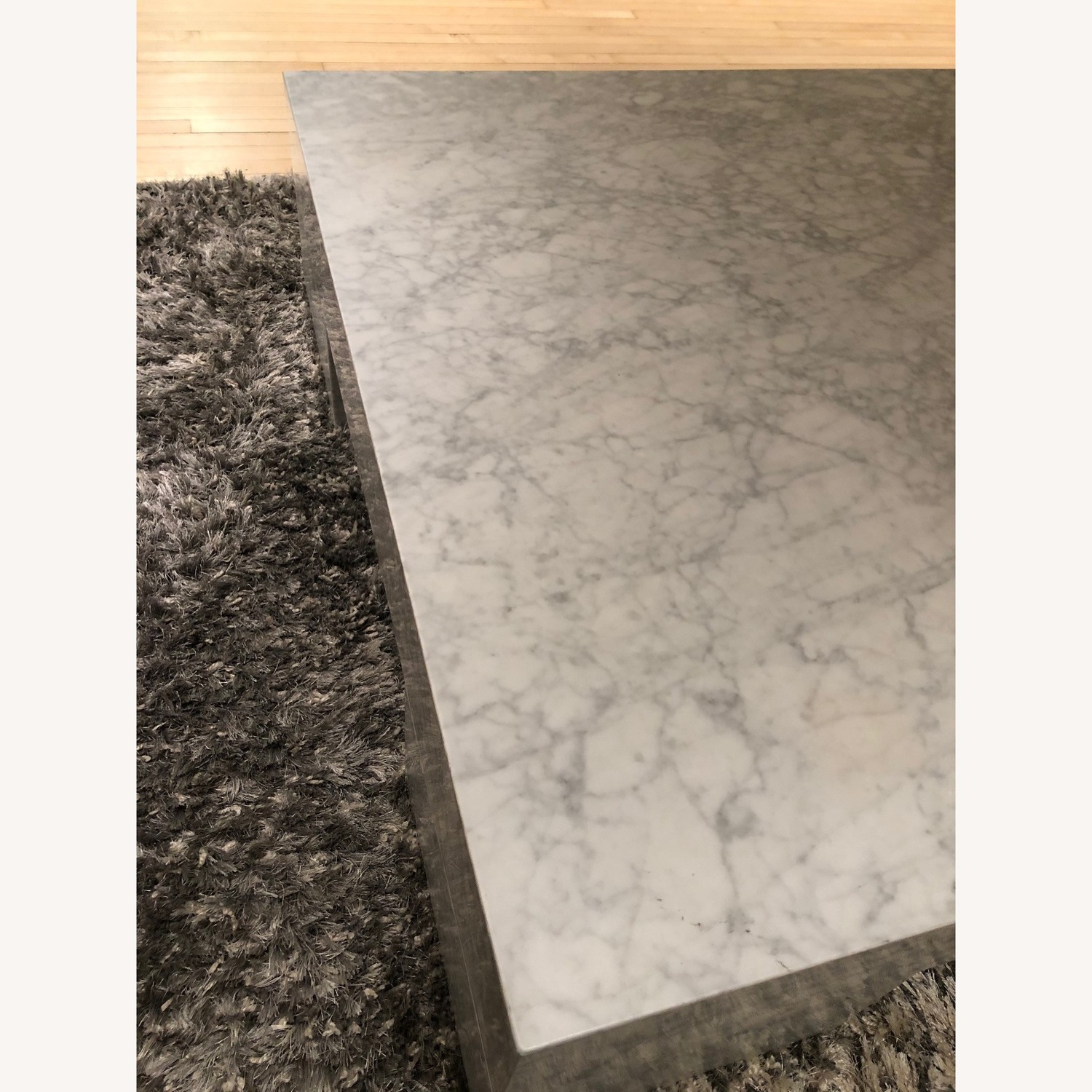 Restoration Hardware Marble Parsons Coffee Table - image-6