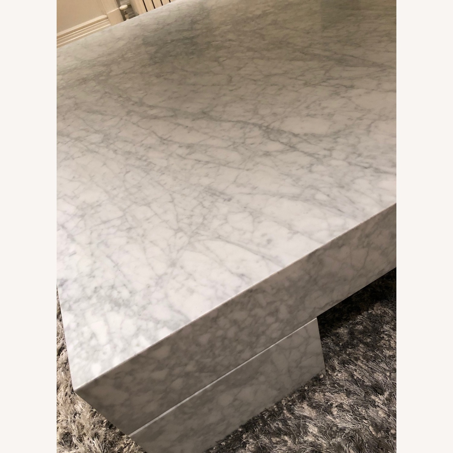 Restoration Hardware Marble Parsons Coffee Table - image-4