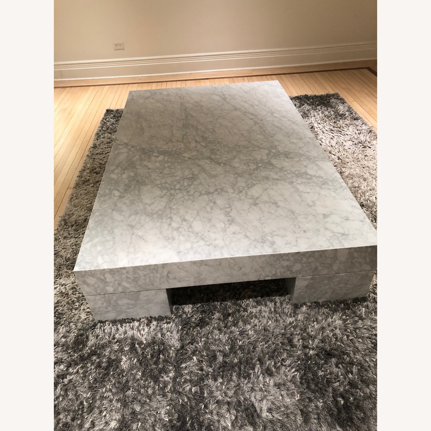 Restoration Hardware Marble Parsons Coffee Table - image-3
