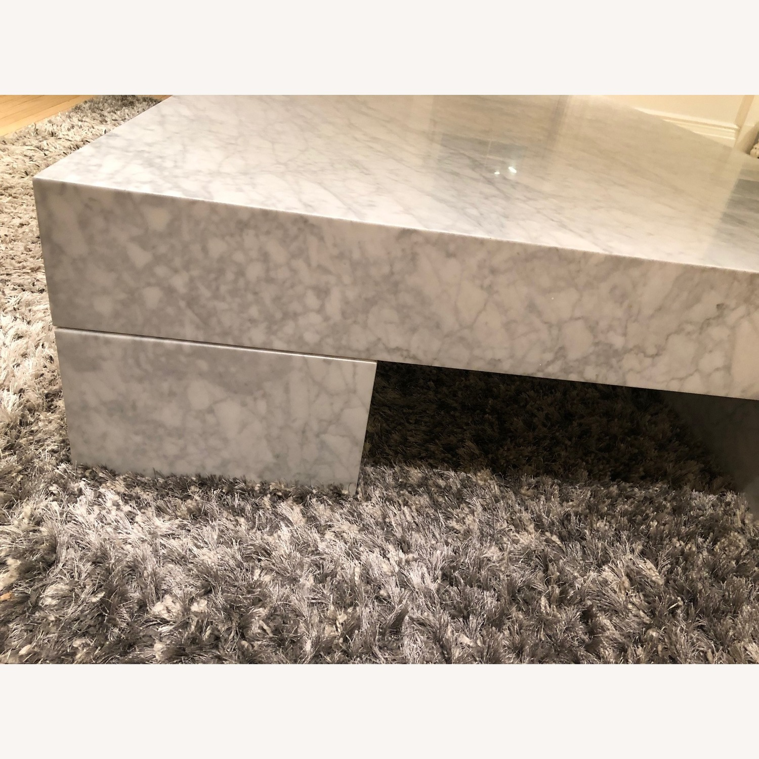 Restoration Hardware Marble Parsons Coffee Table - image-8