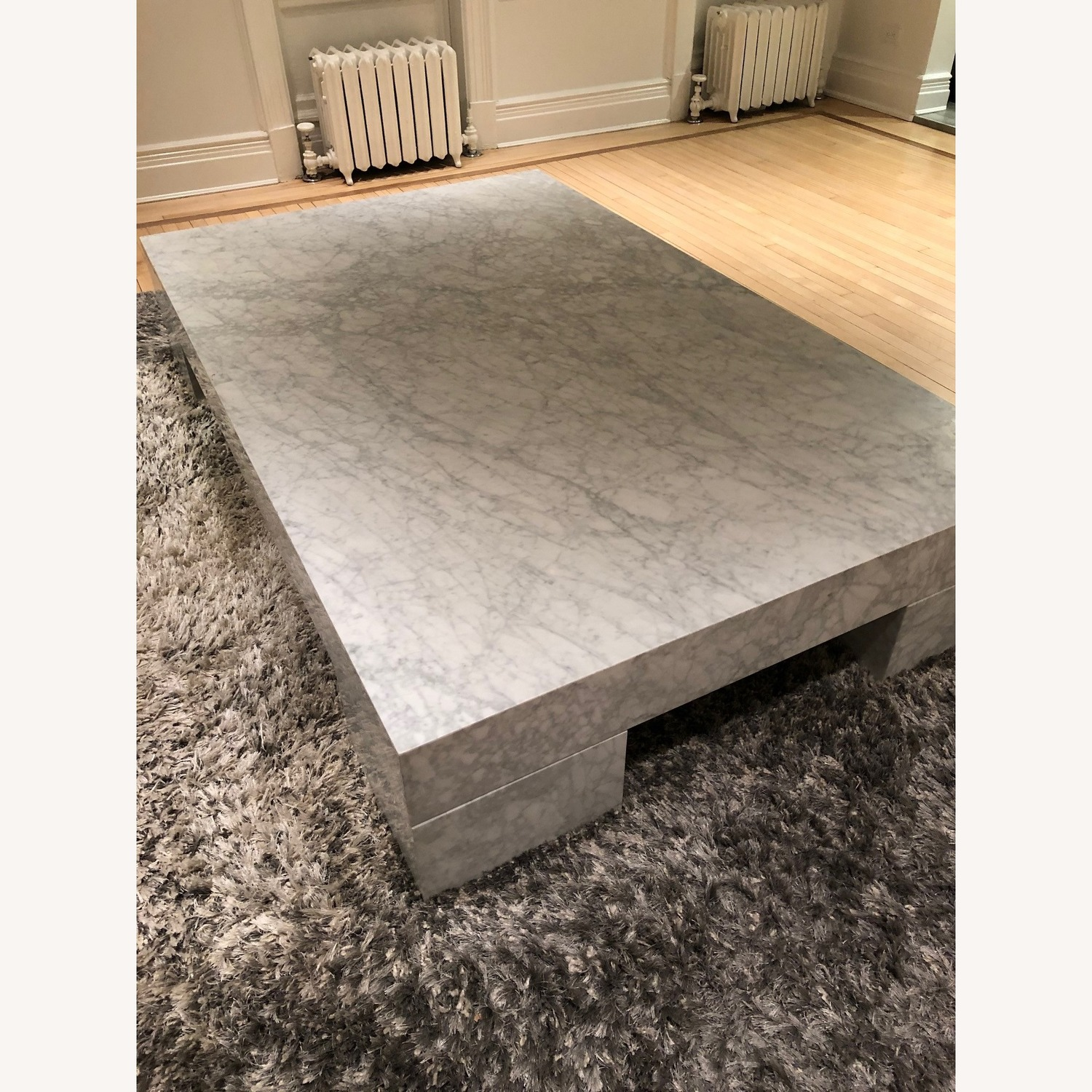 Restoration Hardware Marble Parsons Coffee Table - image-9