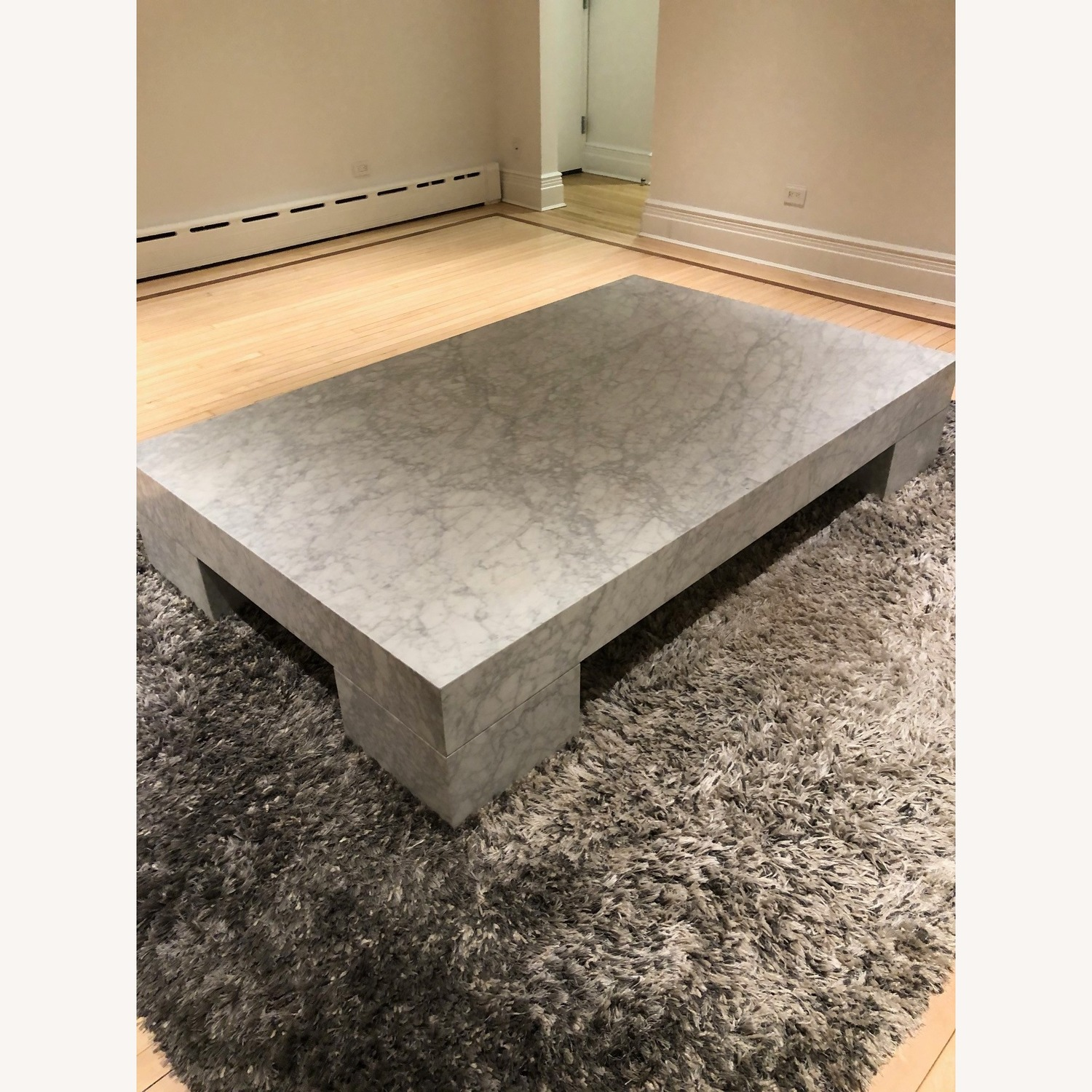 Restoration Hardware Marble Parsons Coffee Table - image-2