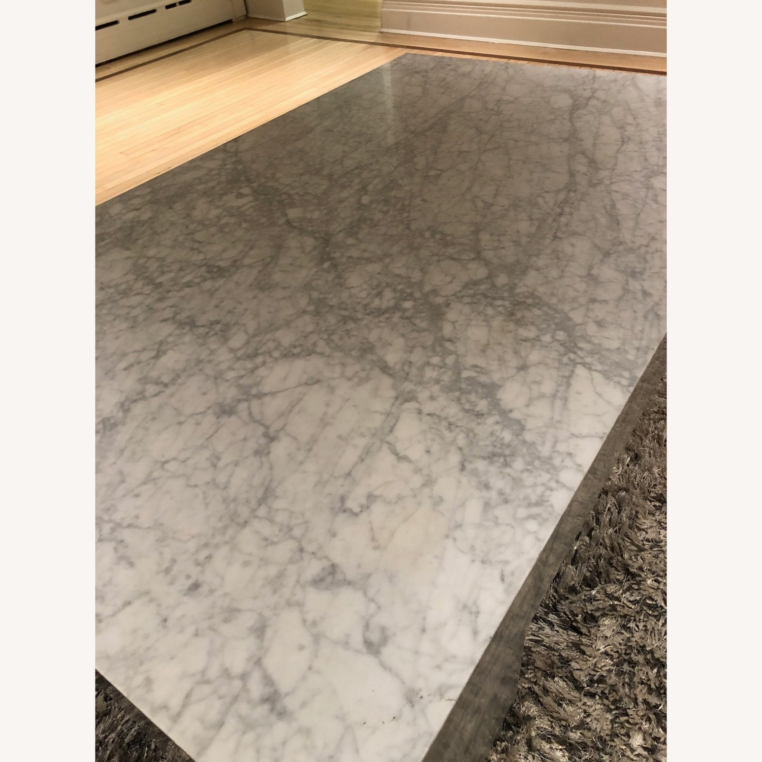 Restoration Hardware Marble Parsons Coffee Table - image-5