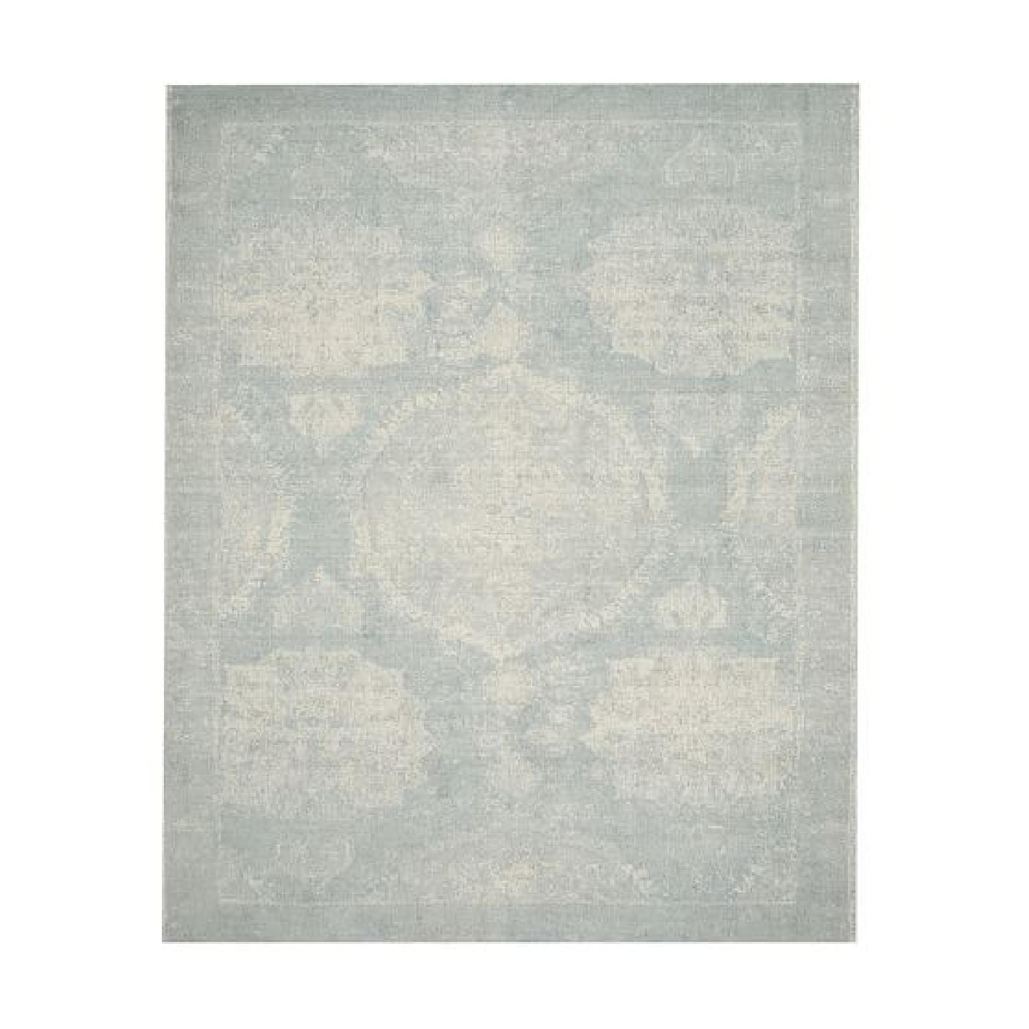 Pottery Barn Barret Printed Rug in Porcelain Blue - image-0