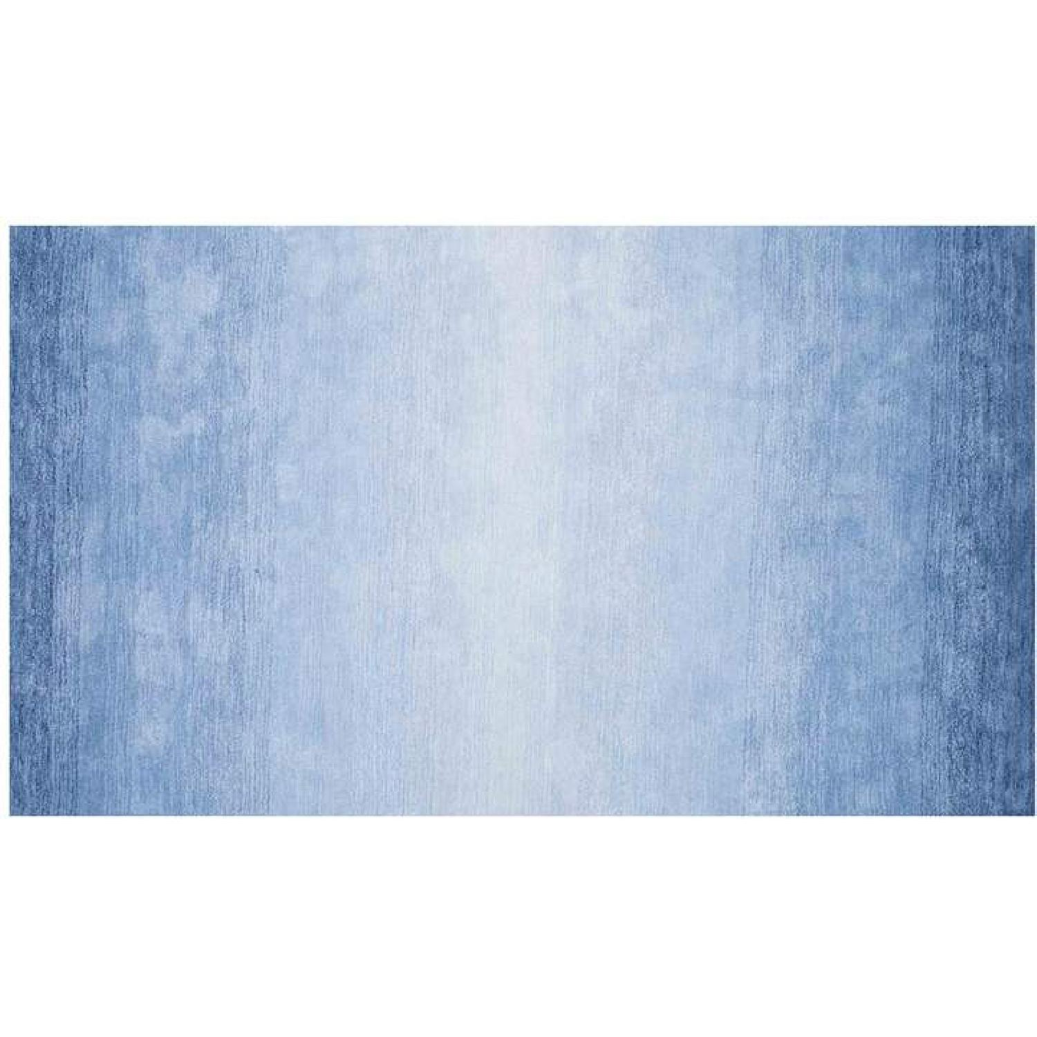nuLOOM Ombre Abstract Rug in Blue - image-0
