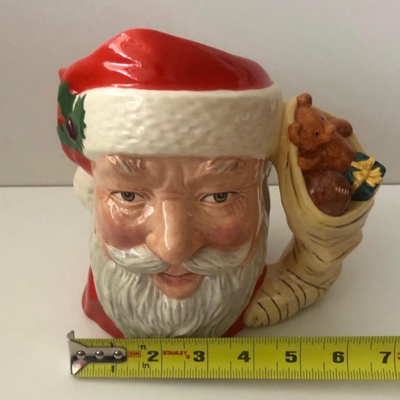 Royal Doulton 1983 Santa Claus Toy Bag Handle Mug - image-2