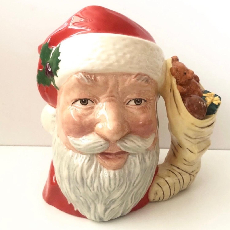 Royal Doulton 1983 Santa Claus Toy Bag Handle Mug - image-1