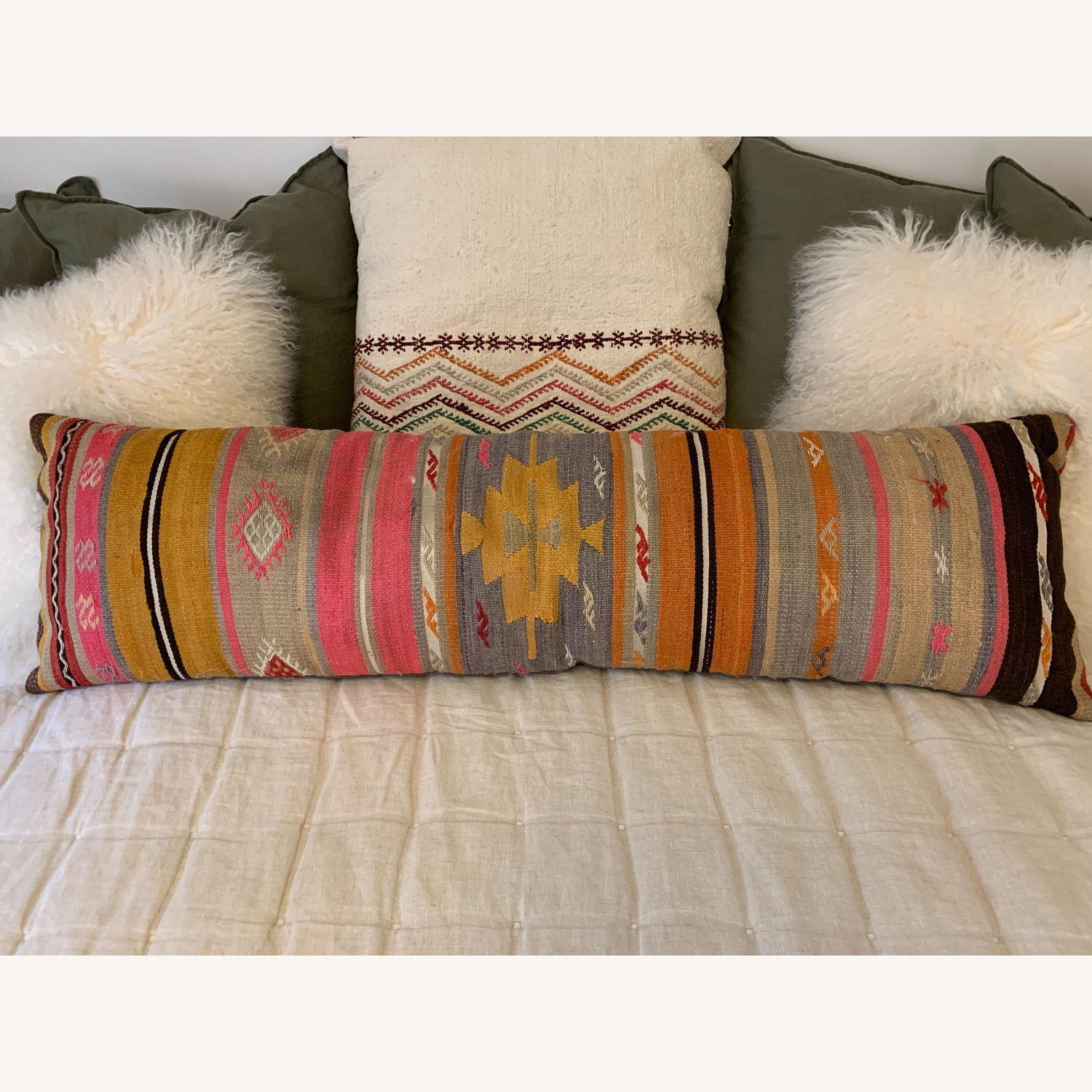 Multicolor Oblong Pillow