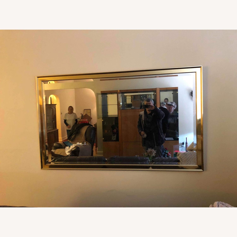 Vintage 1980s Metal Framed Beverly Wall Mirror