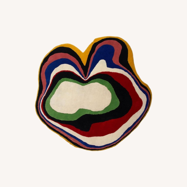 Aelfie Cosmic Yolk Wool Rug - image-0