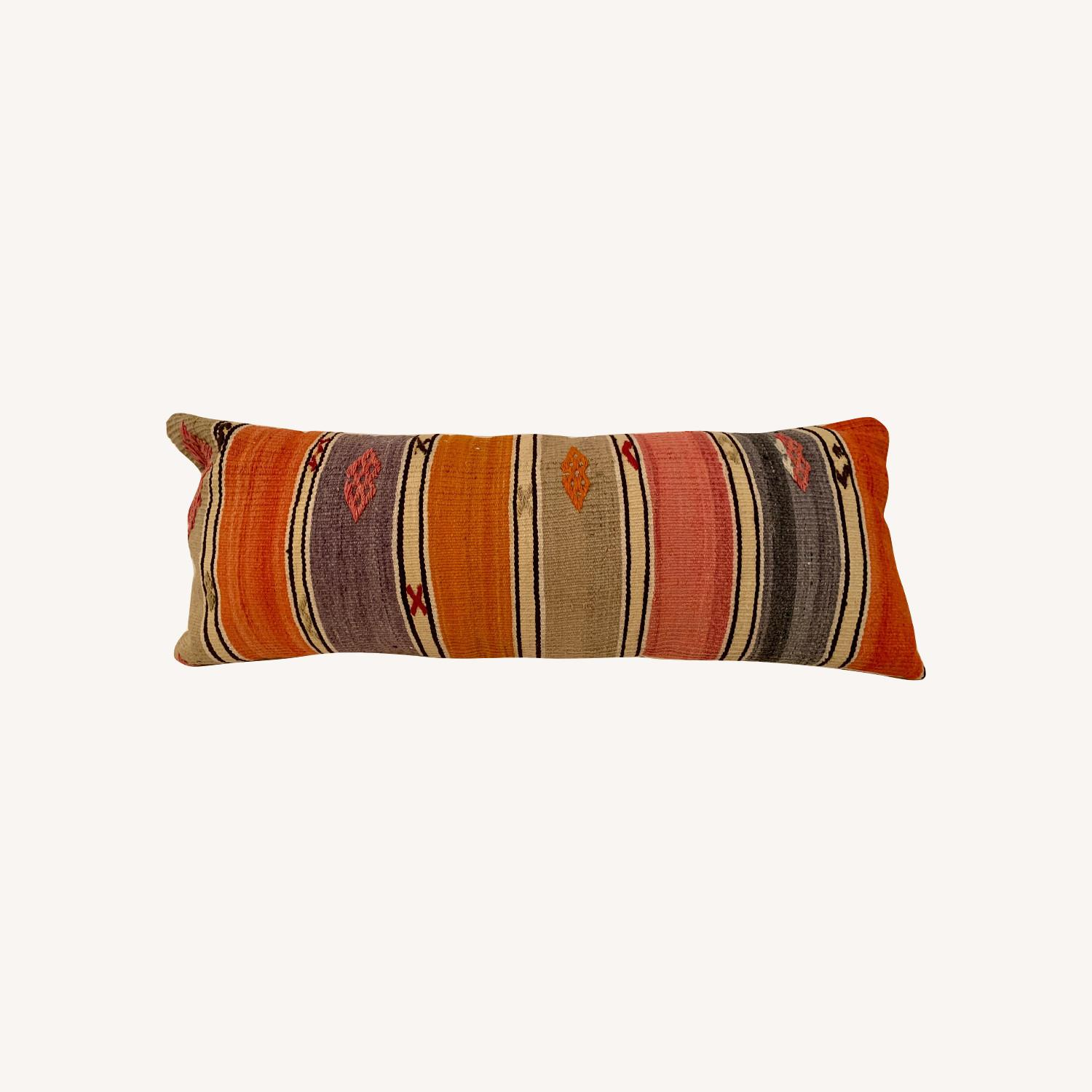 Striped Bed/Lumbar Pillow