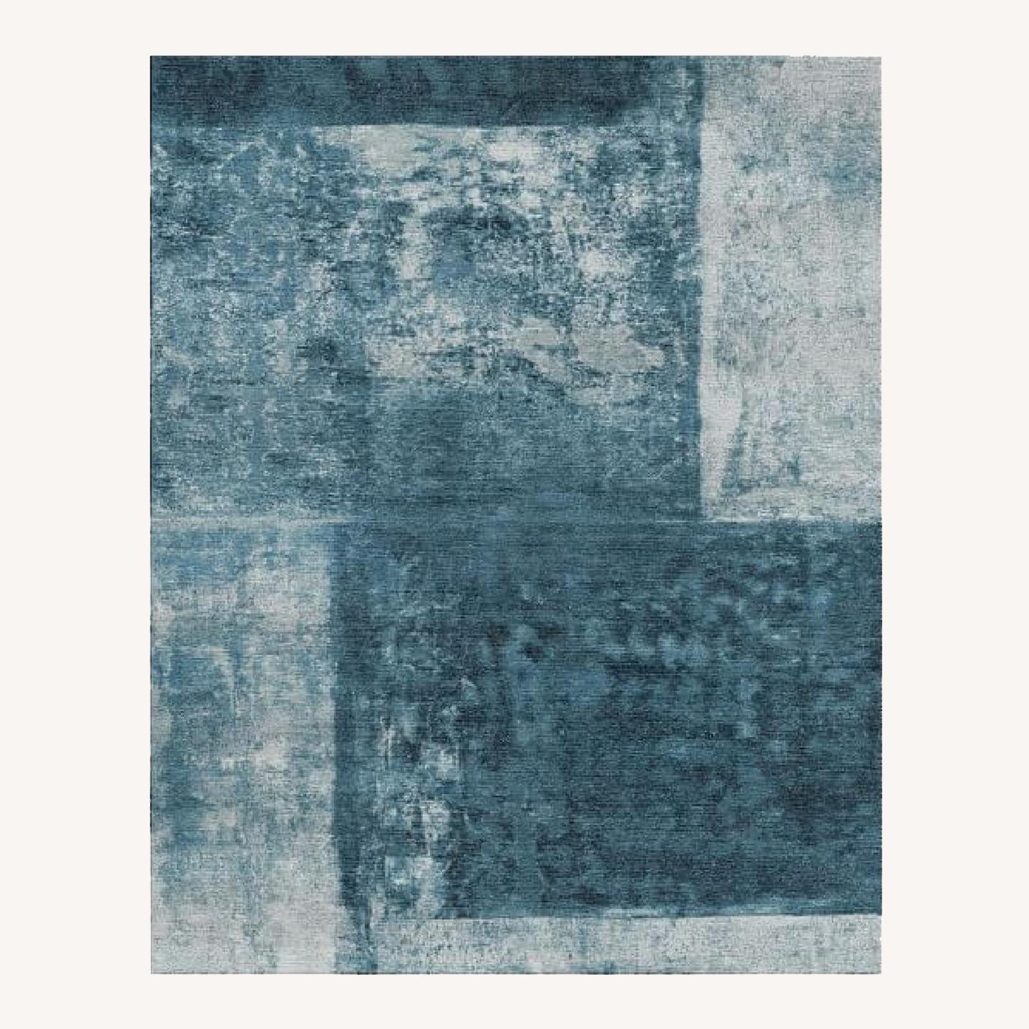 West Elm Blue Area Rug - image-0