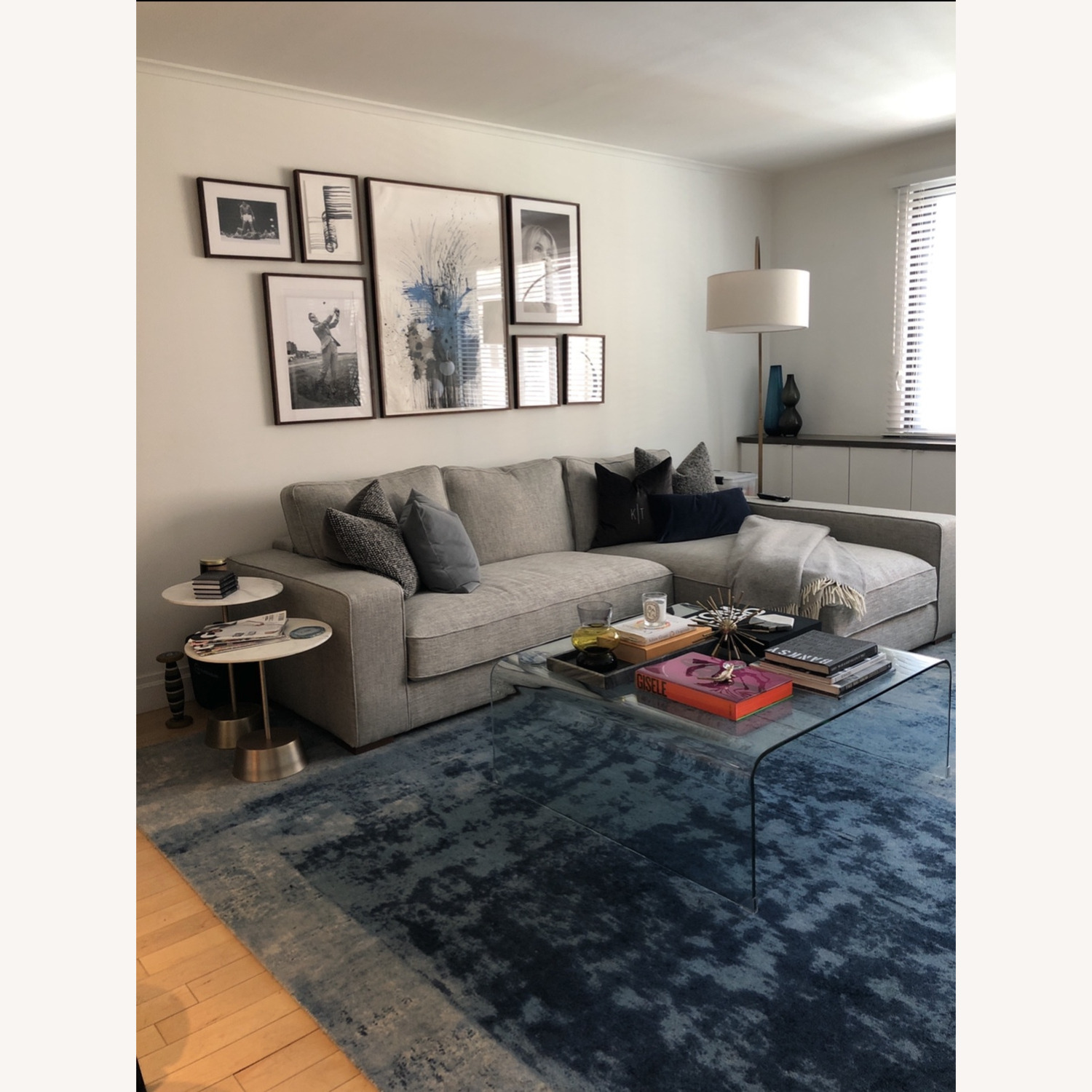 West Elm Blue Area Rug - image-3