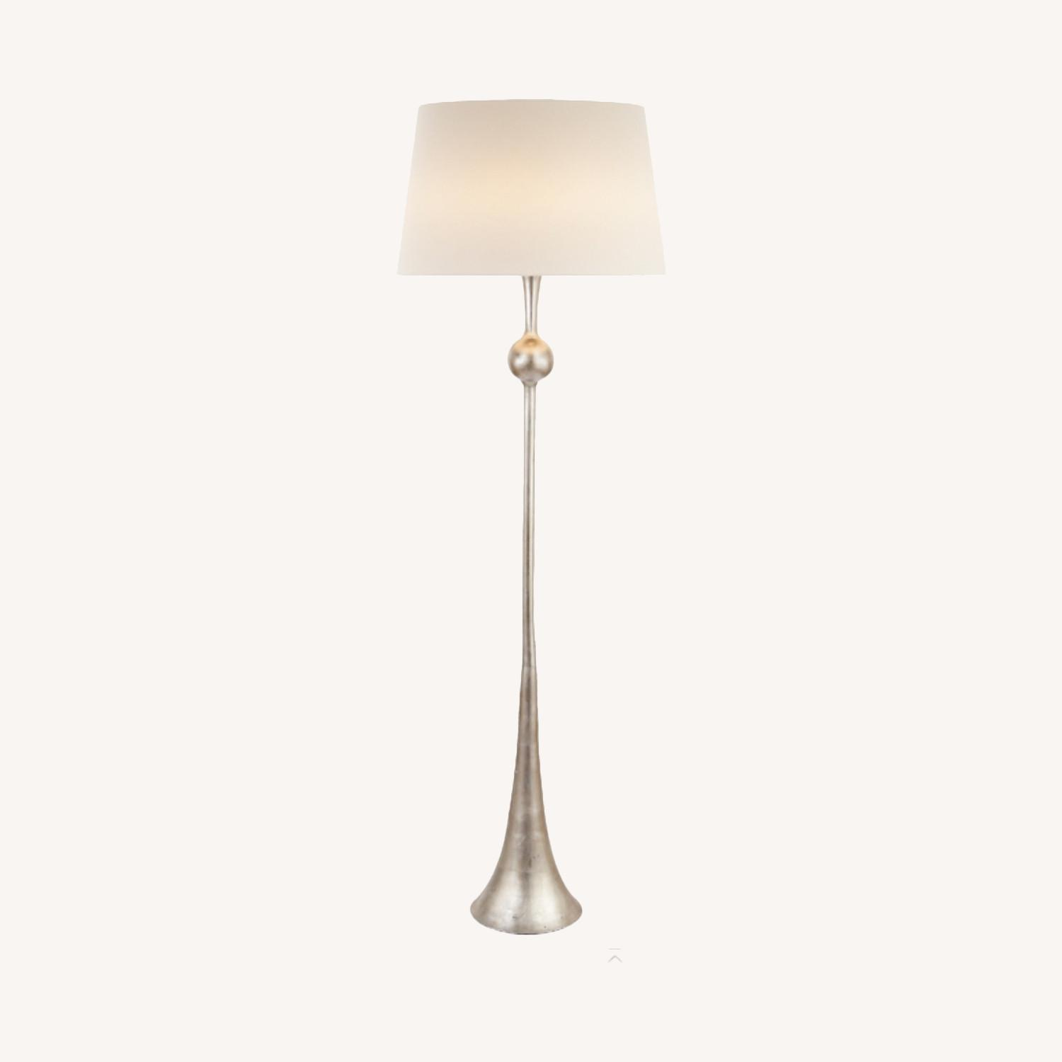 Visual comfort burnished silver leaf floor lamps