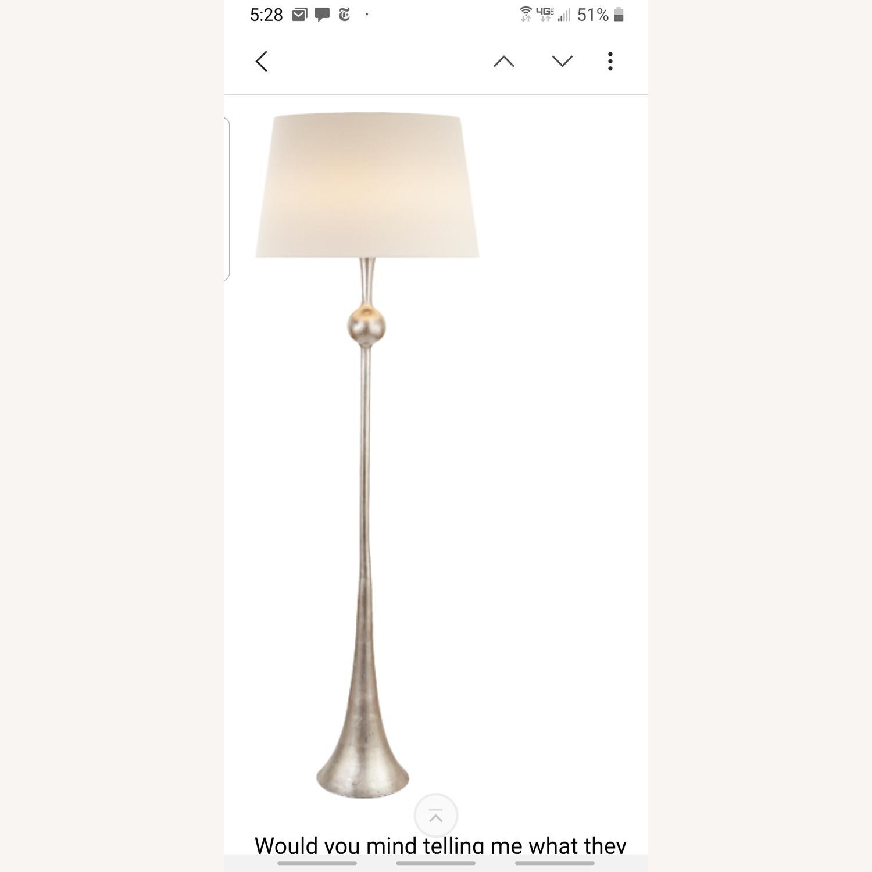 Visual comfort burnished silver leaf floor lamps