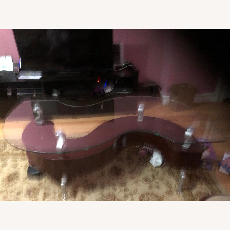 Raymour & Flanigan Glass Top Coffee Table