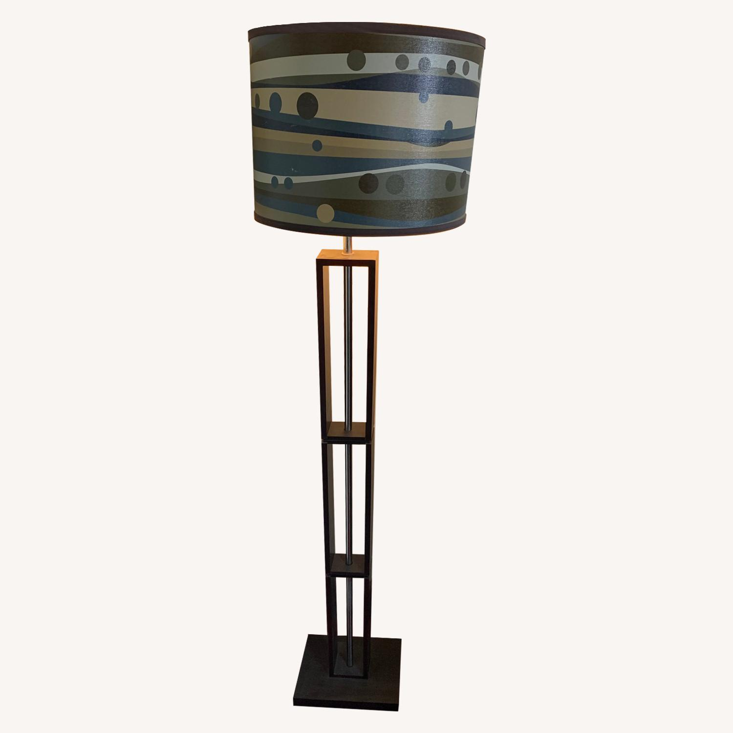 Target Floor Lamp w/ Patterned Shade - image-0