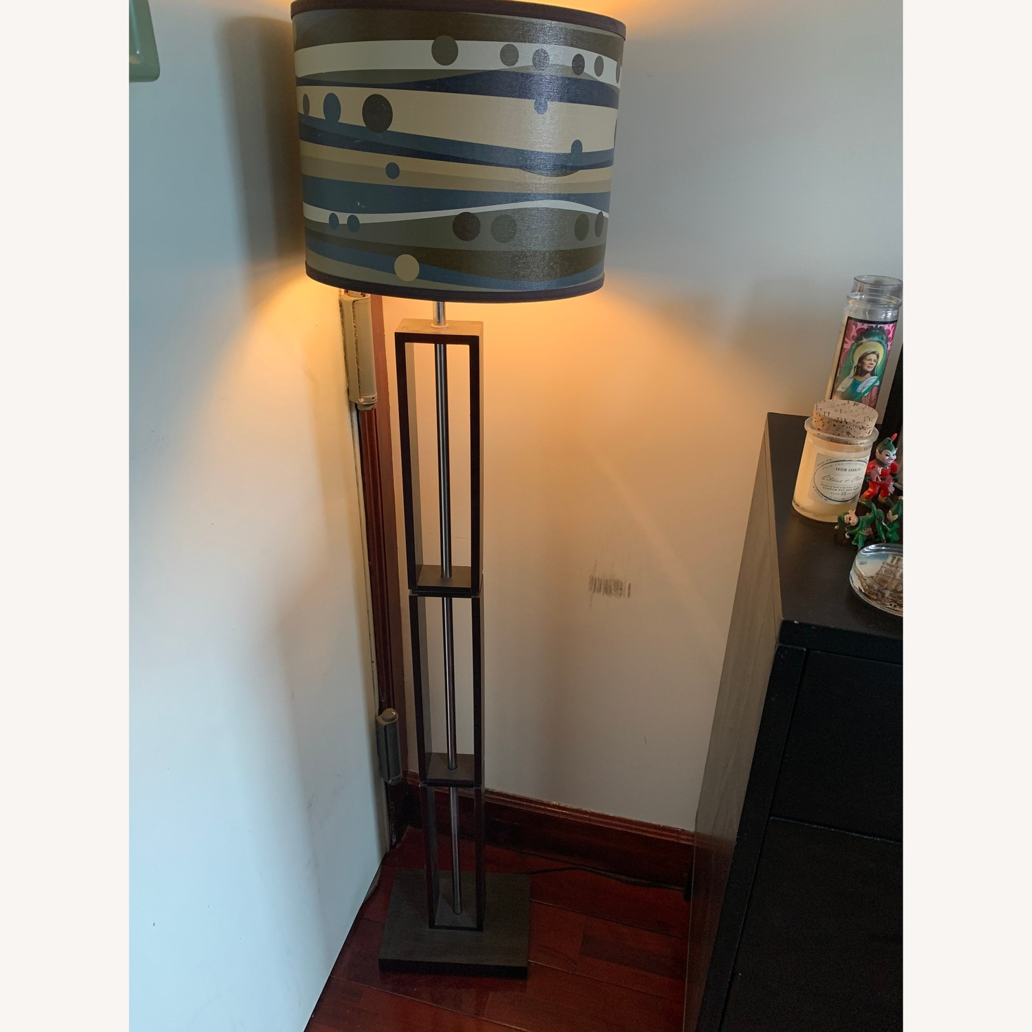 Target Floor Lamp w/ Patterned Shade - image-1