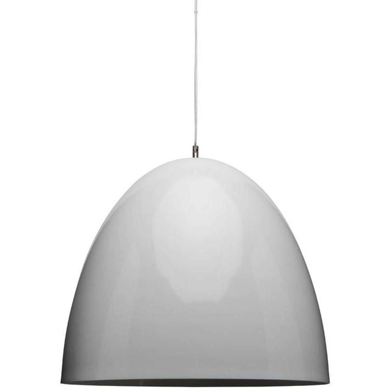 Nuevo Lighting White Matte Suspension Dome Ceiling Light - image-0