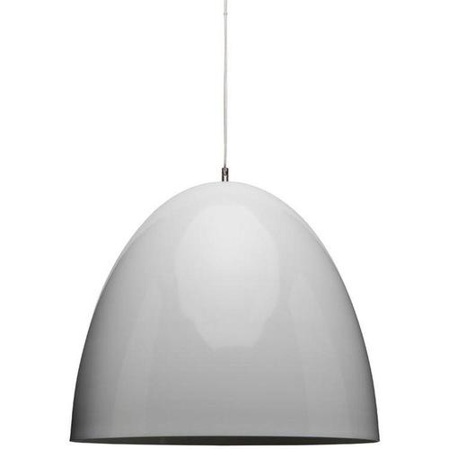 Used Nuevo Lighting White Matte Suspension Dome Ceiling Light for sale on AptDeco