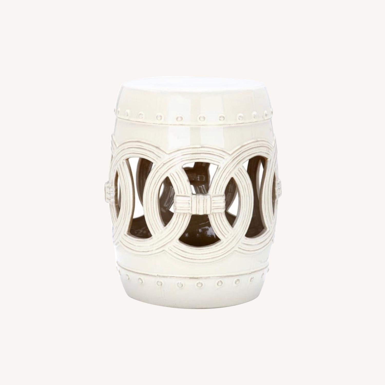 Safavieh Cream Ceramic Garden Stool - image-0