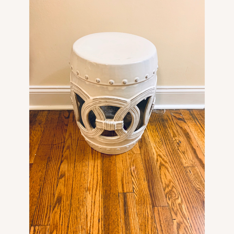 Safavieh Cream Ceramic Garden Stool - image-2