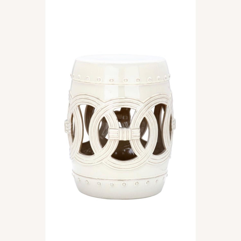 Safavieh Cream Ceramic Garden Stool - image-3