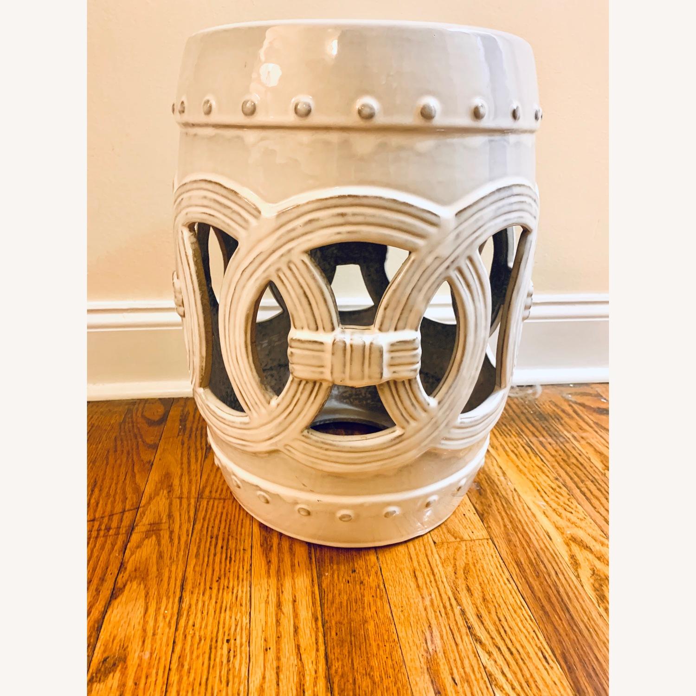 Safavieh Cream Ceramic Garden Stool - image-1