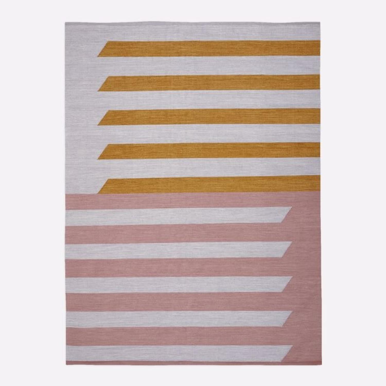 West Elm Spliced Stripe Rug - image-0