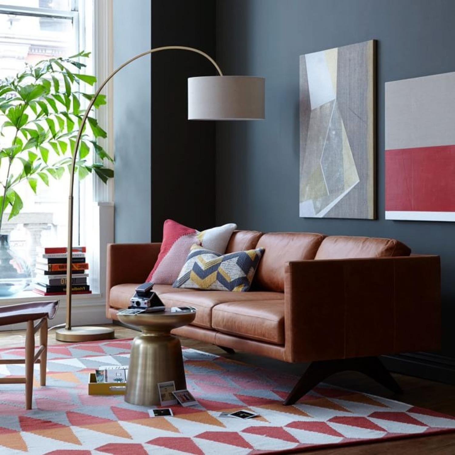 West Elm Cfl Overarching Floor Lamp - image-3