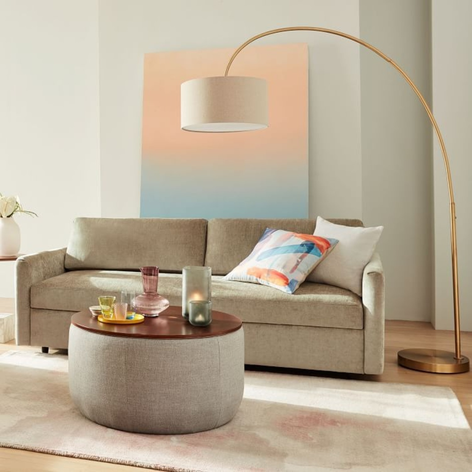 West Elm Cfl Overarching Floor Lamp - image-2
