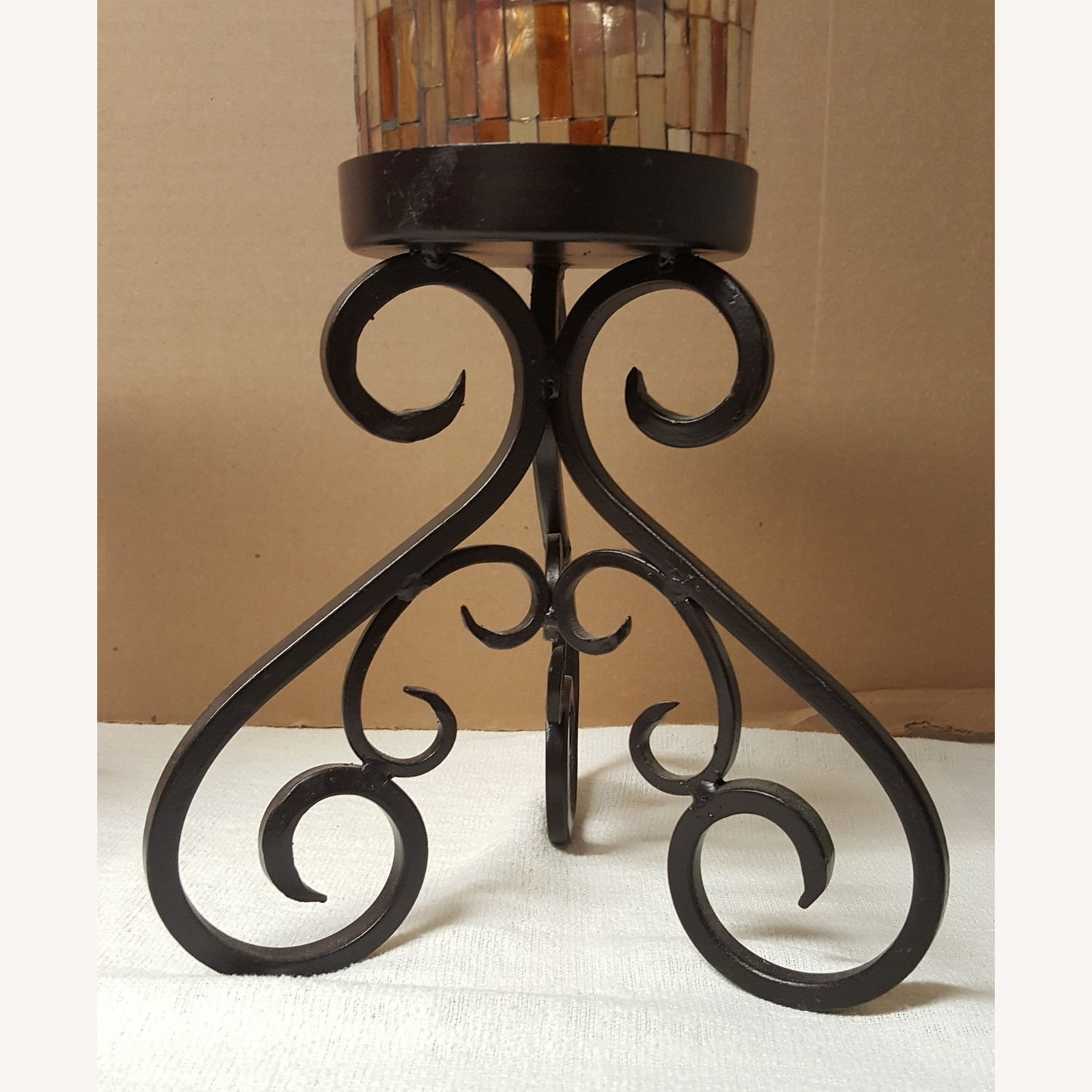 Mosaic Glass Dining-Table Candle Holders - image-4