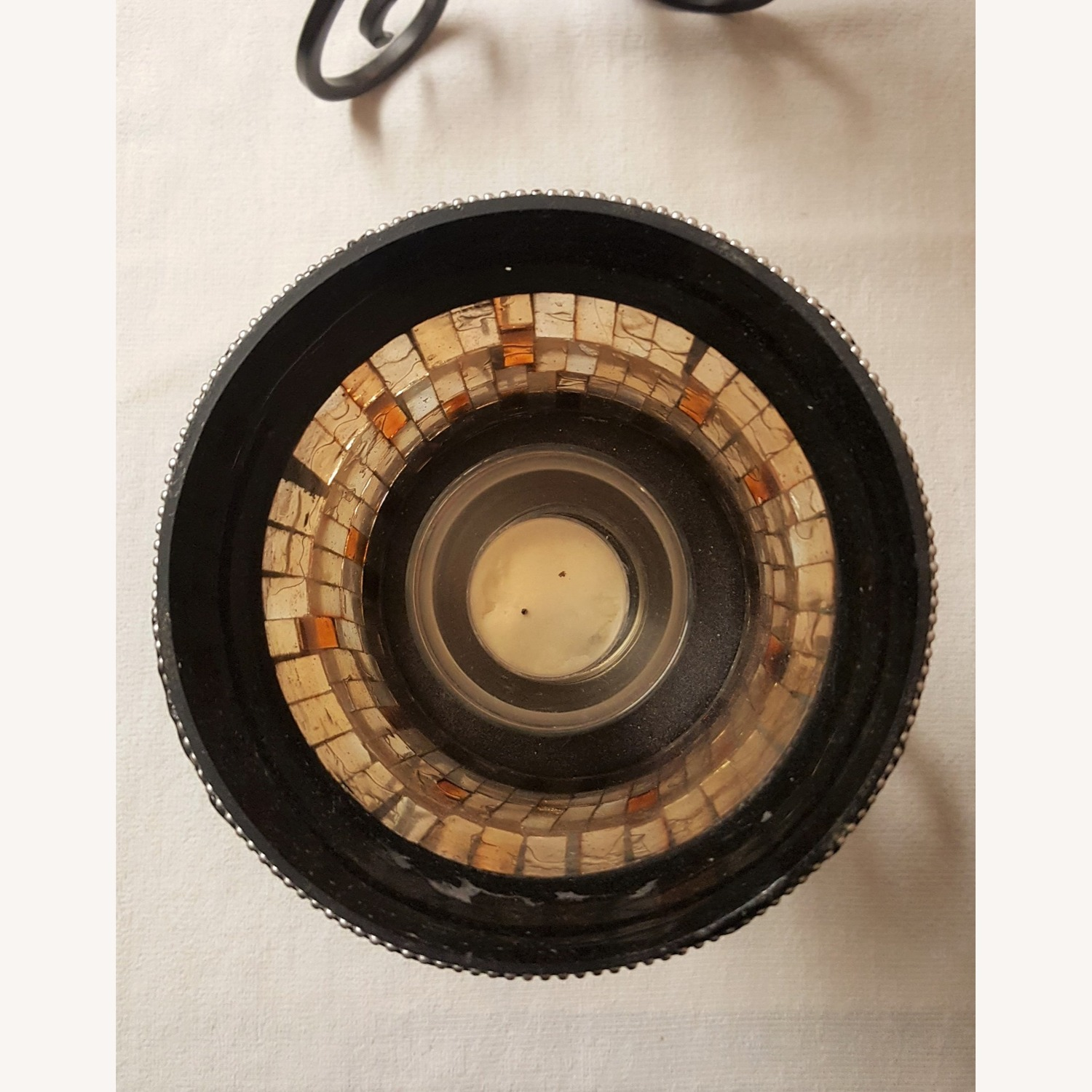 Mosaic Glass Dining-Table Candle Holders - image-5