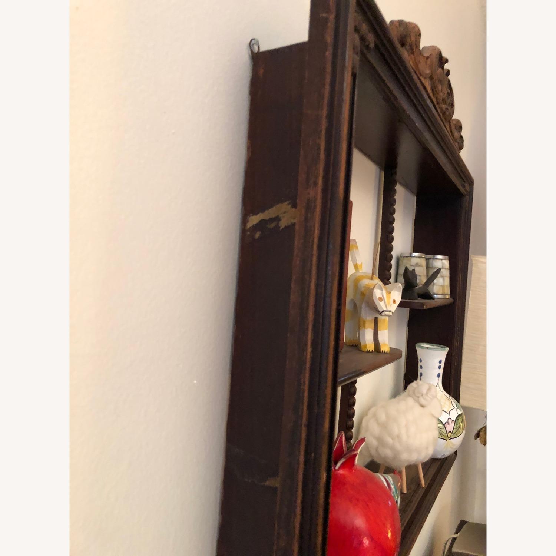 Vintage curio shelf