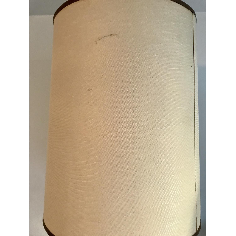 Vintage Eagle Wooden Lamp With Barrel Shade - image-8