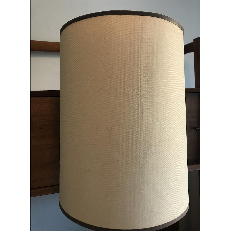 Vintage Eagle Wooden Lamp With Barrel Shade - image-13