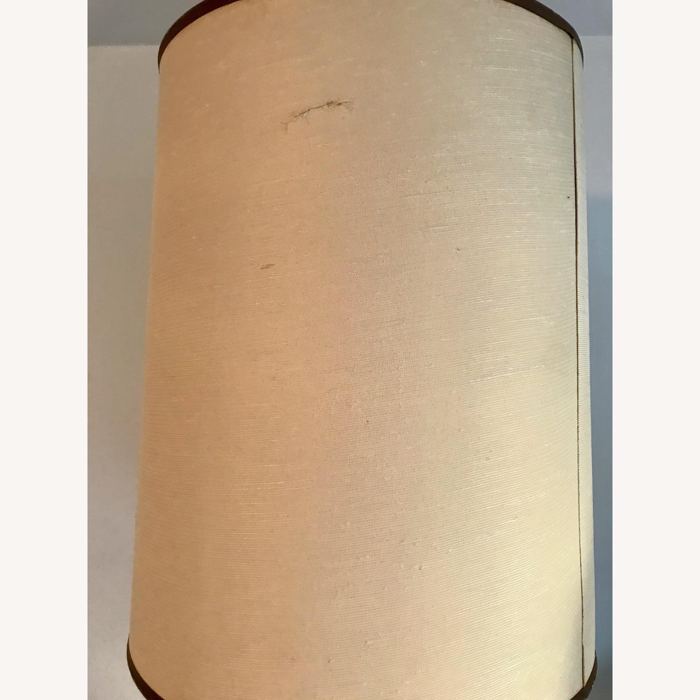 Vintage Eagle Wooden Lamp With Barrel Shade - image-7