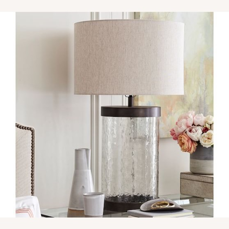 Pottery Barn Murano Glass Table Lamp