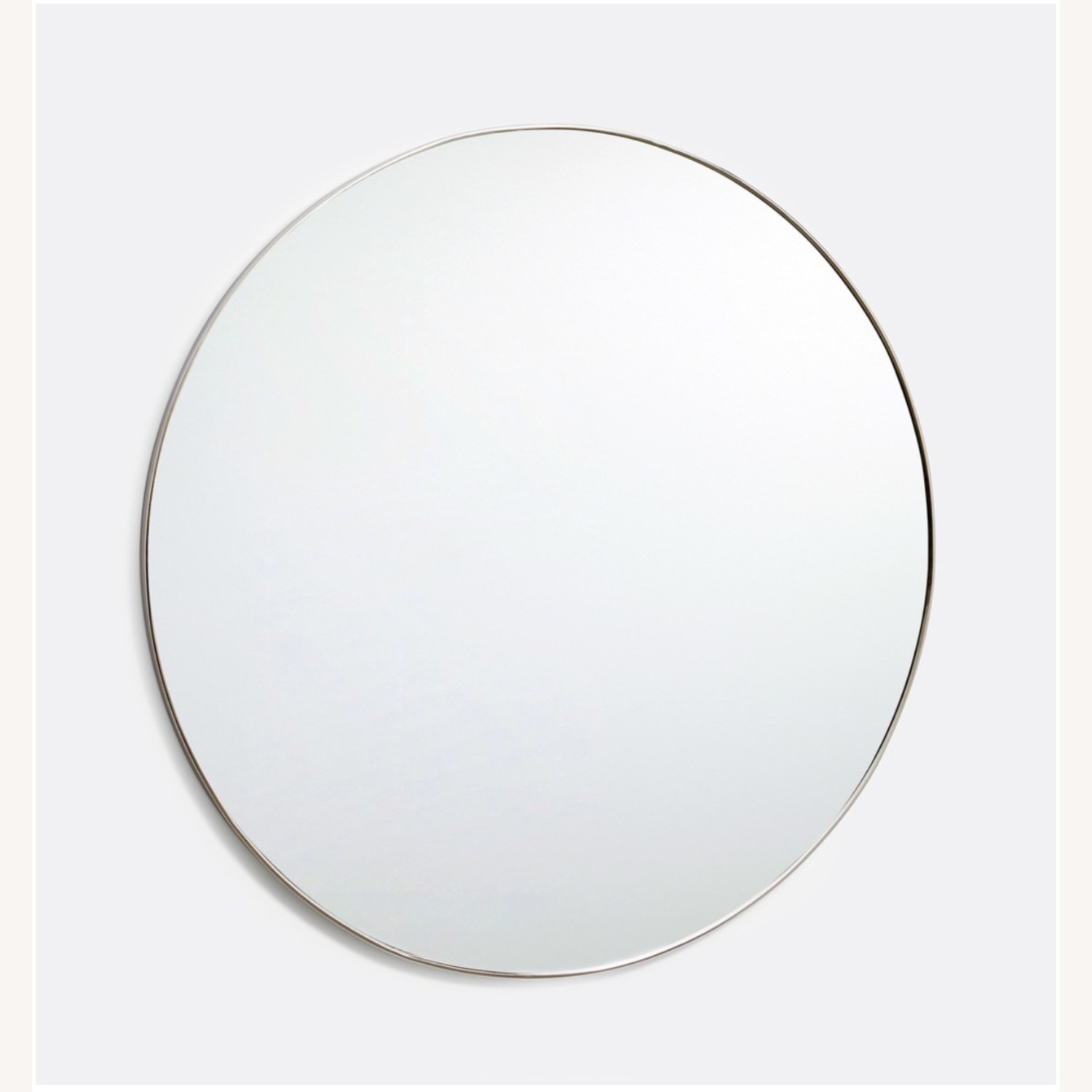 "36"" Round Polished Nickel Framed Mirror - image-1"