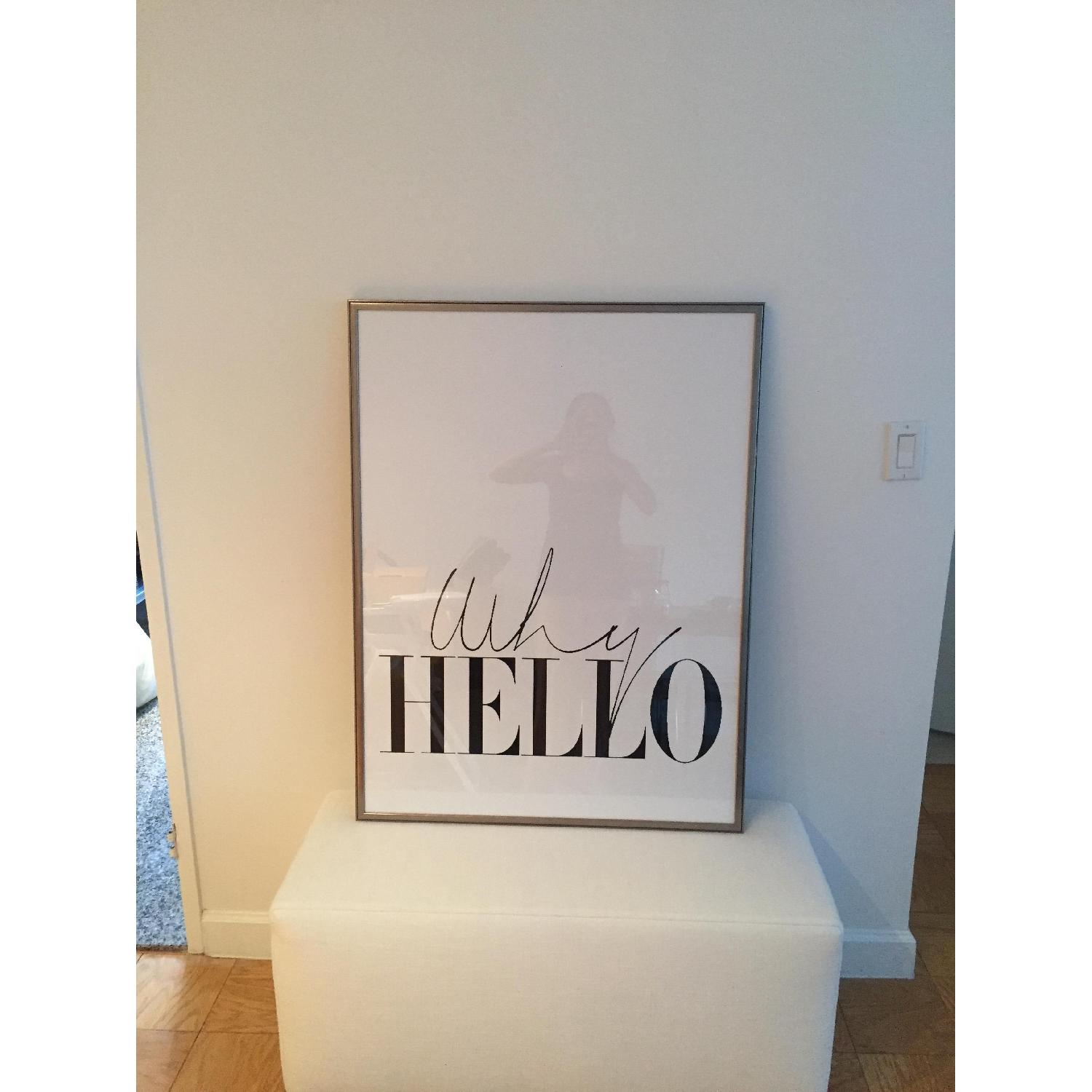 Why Hello Framed Wall Art - image-1