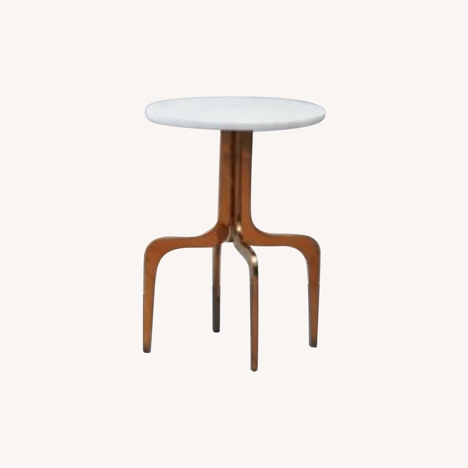CB2 Dorset Marble side table - image-0