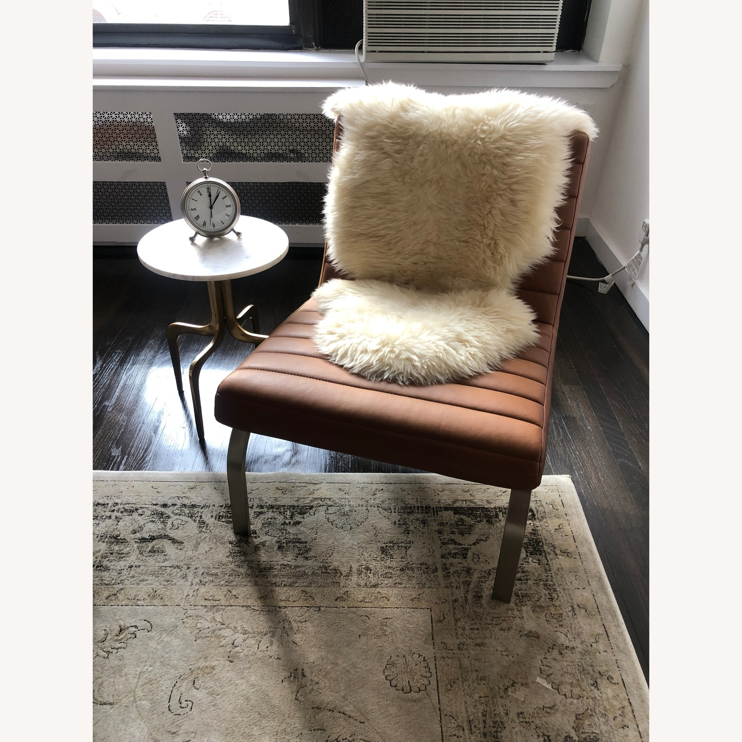 CB2 Dorset Marble side table - image-4