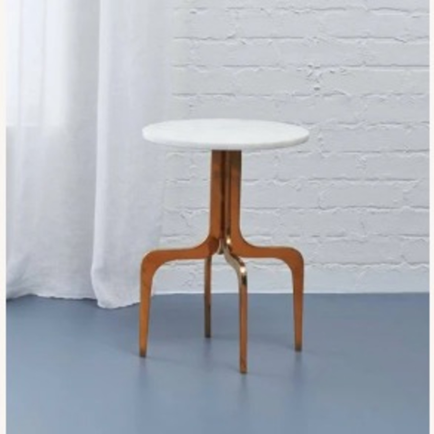 CB2 Dorset Marble side table - image-1