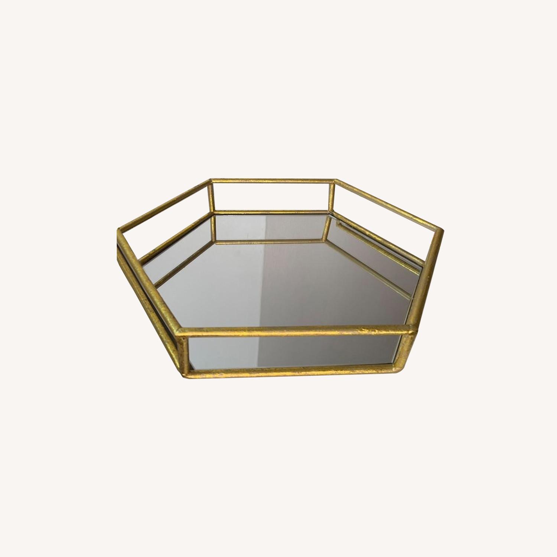 Layered Decorative mirror trays (x2) - image-0