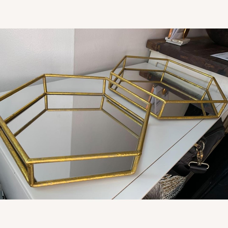 Layered Decorative mirror trays (x2) - image-3