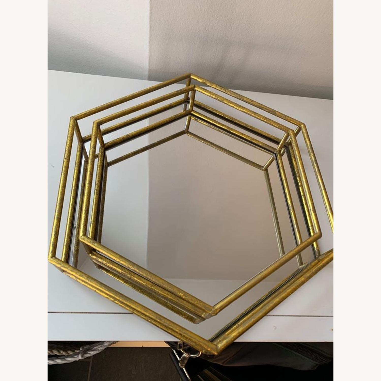 Layered Decorative mirror trays (x2) - image-4