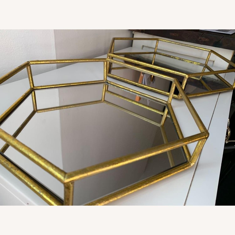 Layered Decorative mirror trays (x2) - image-2