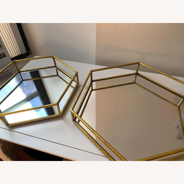 Layered Decorative mirror trays (x2) - image-1